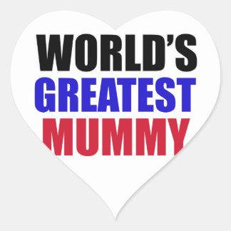greatest  mummy design sticker