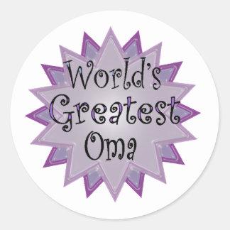 greatest.oma round sticker