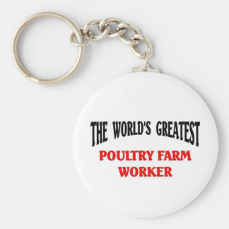 Greatest Poultry Farm worker Basic Round Button Key Ring