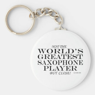 Greatest Saxophone Player Close Basic Round Button Key Ring