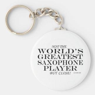 Greatest Saxophone Player Close Key Ring