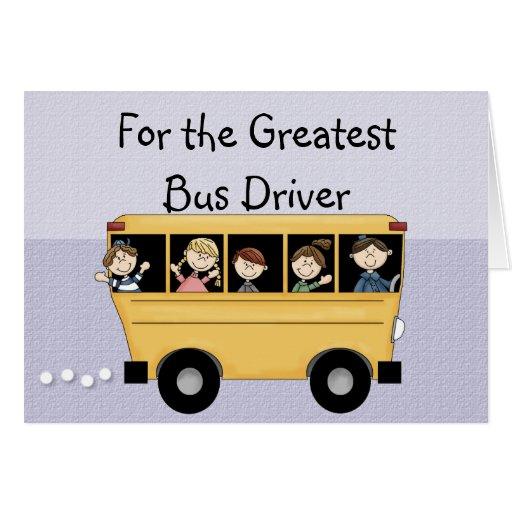 Greatest School Bus Driver Customizable Card