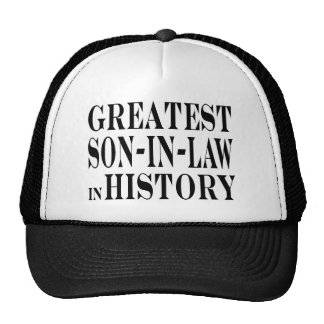 Greatest Son in Law in History Mesh Hats
