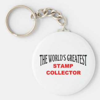 Greatest stamp collector basic round button key ring