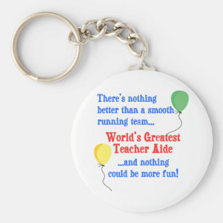 Greatest Teacher Aide Key Ring