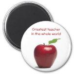 Greatest teacher in the whole world fridge magnets