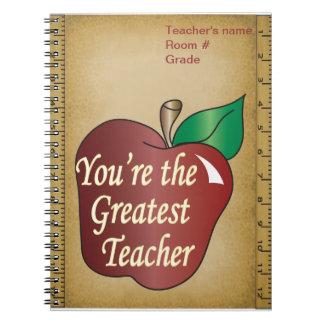 Greatest Teacher Spiral Notebook