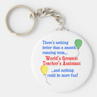 Greatest Teacher's Assistant Basic Round Button Key Ring