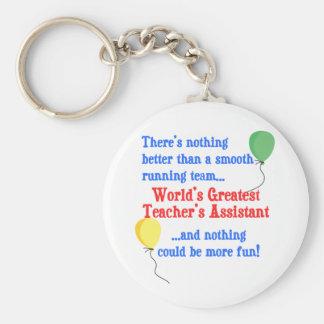 Greatest Teacher's Assistant Key Chains