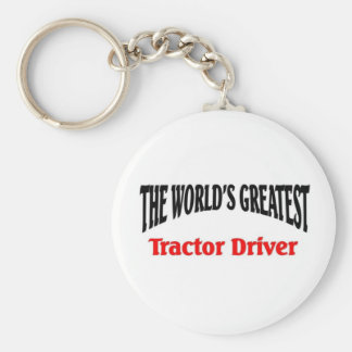 Greatest Tractor Driver Basic Round Button Key Ring