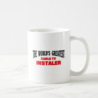 Greatest tv installer basic white mug