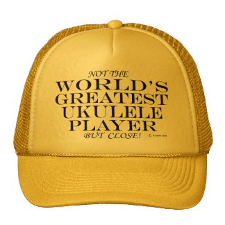 Greatest Ukulele Player Close Hat
