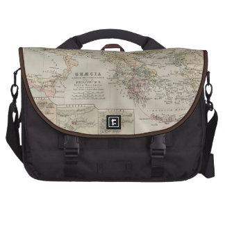 grecian antique map laptop commuter bag