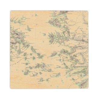 Grecian Archipelago, ancient Wood Coaster