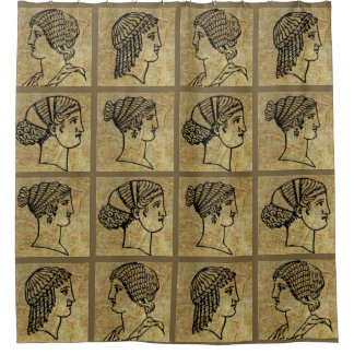 Grecian Greek Women Ancient Antique Shower Curtain