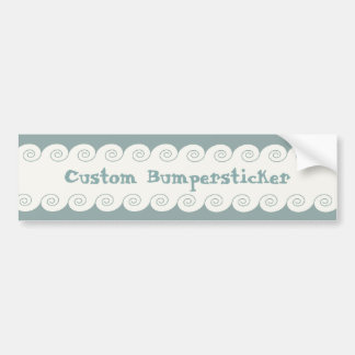 Grecian Spiral Waves Bumper Sticker