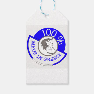 GREECE 100% CREST GIFT TAGS