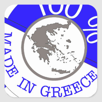 GREECE 100% CREST SQUARE STICKER