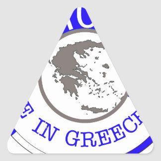 GREECE 100% CREST TRIANGLE STICKER