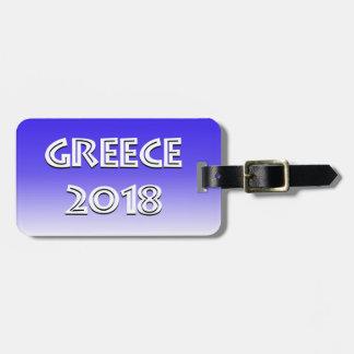Greece 2018  Luggage Tag