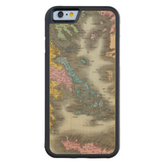 Greece 2 carved maple iPhone 6 bumper case