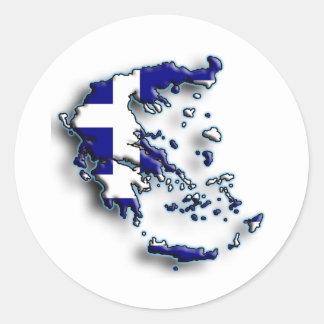 Greece 2 round sticker