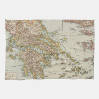Greece 4 tea towel