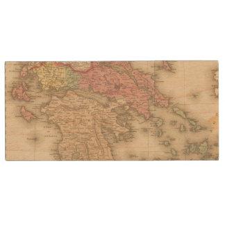 Greece 5 wood USB 2.0 flash drive