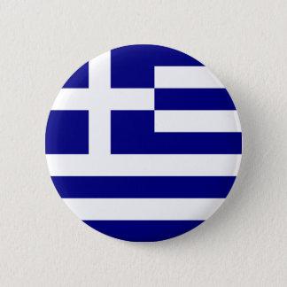 greece 6 cm round badge