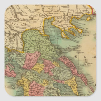 Greece 8 square sticker