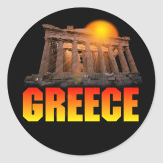 Greece - Acropolis Classic Round Sticker