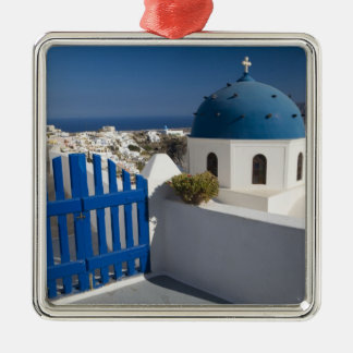 Greece and Greek Island of Santorini from the Christmas Ornament