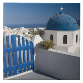 Greece and Greek Island of Santorini from the Large Square Tile