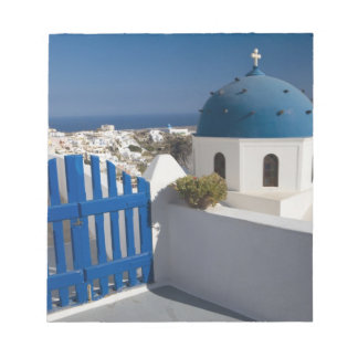 Greece and Greek Island of Santorini from the Notepad