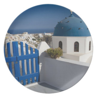 Greece and Greek Island of Santorini from the Plates