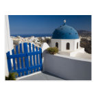 Greece and Greek Island of Santorini from the Postcard