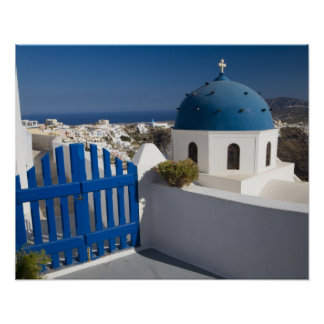 Greece and Greek Island of Santorini from the Poster