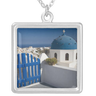 Greece and Greek Island of Santorini from the Silver Plated Necklace