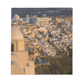 Greece and Greek Island of Santorini town of Notepad