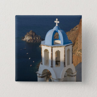 Greece and Greek Island of Santorini town of Oia 2 15 Cm Square Badge