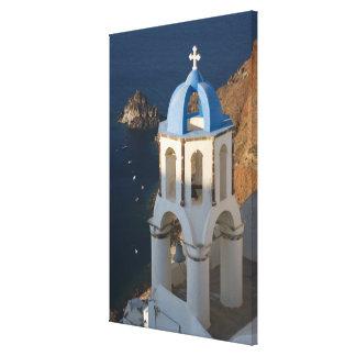 Greece and Greek Island of Santorini town of Oia 2 Canvas Print