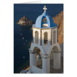 Greece and Greek Island of Santorini town of Oia 2 Greeting Card