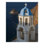Greece and Greek Island of Santorini town of Oia 2 Poster
