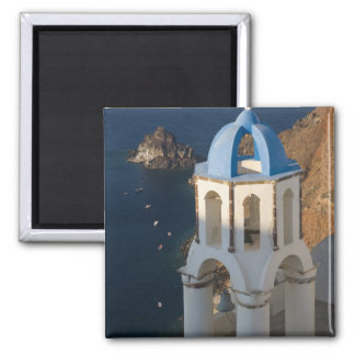 Greece and Greek Island of Santorini town of Oia 2 Square Magnet