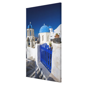 Greece and Greek Island of Santorini town of Oia 3 Canvas Print