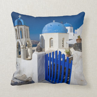 Greece and Greek Island of Santorini town of Oia 3 Cushion