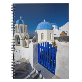 Greece and Greek Island of Santorini town of Oia 3 Spiral Notebook