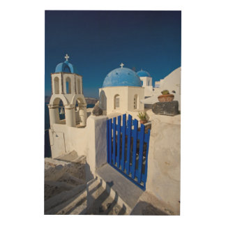Greece and Greek Island of Santorini town of Oia 3 Wood Print