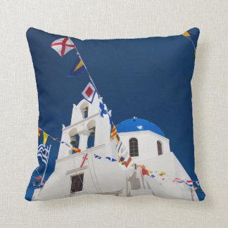 Greece and Greek Island of Santorini town of Oia 4 Cushion