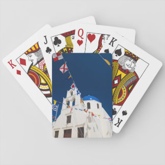 Greece and Greek Island of Santorini town of Oia 4 Playing Cards